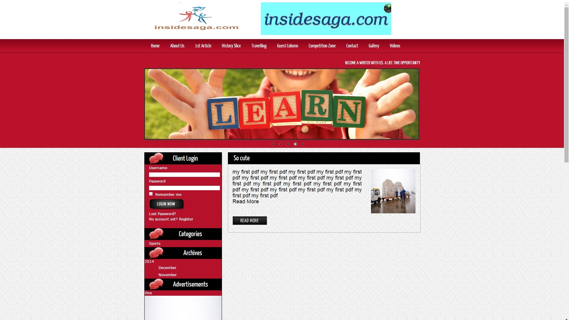 Inside Saga Web Designing & Development