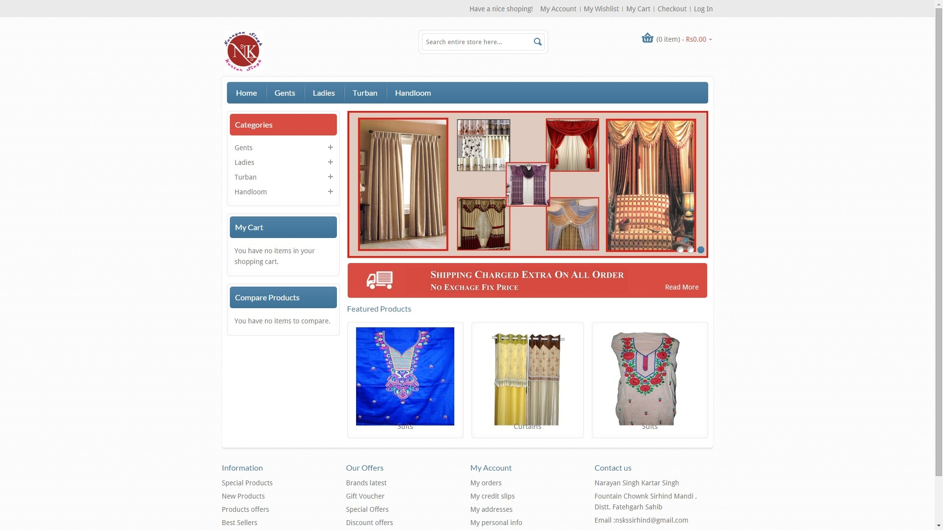Clothing Site Web Designing & Development