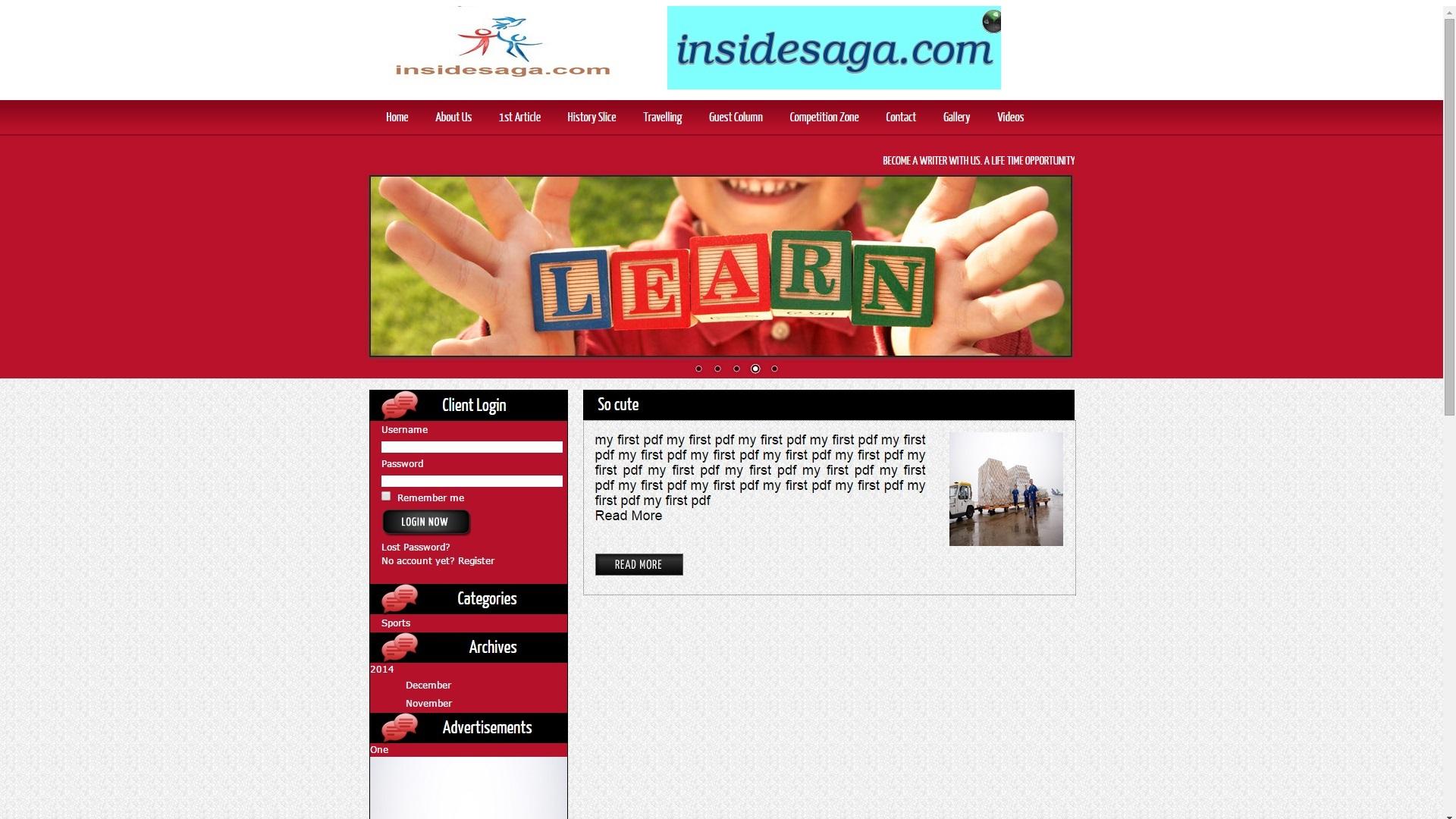 Inside Saga Web Designing & Development
