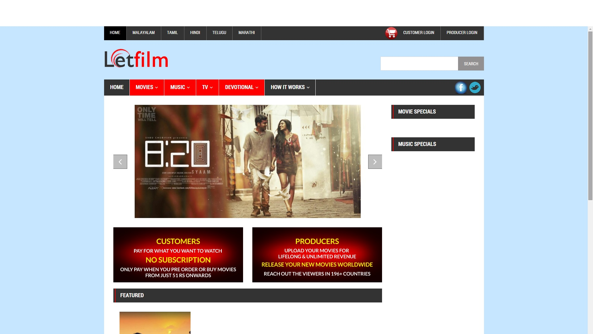 LetFilm Web Designing & Development